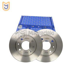 دیسک ترمز چرخ جلو مناسب پژو 206 تیپ 3 ایساکو مدل 0670201807