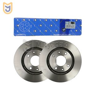 دیسک ترمز چرخ جلو مناسب پژو 206 اتومات تیپ 6 ایساکو مدل 0670202211