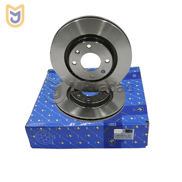 دیسک ترمز چرخ جلو مناسب پژو 206 صندوق دار V9 ایساکو مدل 0670202211