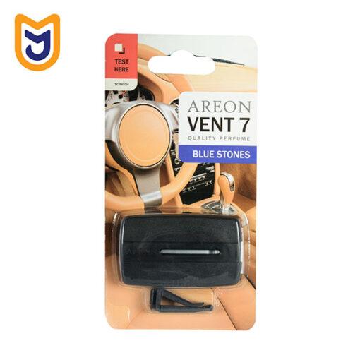 خوشبو کننده دریچه ای داخل کابین خودرو آرئون AREON مدل VENT 7 رایحه سنگ های آبی