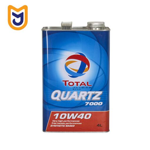 روغن موتور توتال (QUARTZ 7000 (10W40 (چهار لیتری)