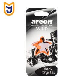 خوشبو کننده آویزی داخل کابین خودرو آرئون areon مدل WIND FRESH رایحه کریستال سیاه