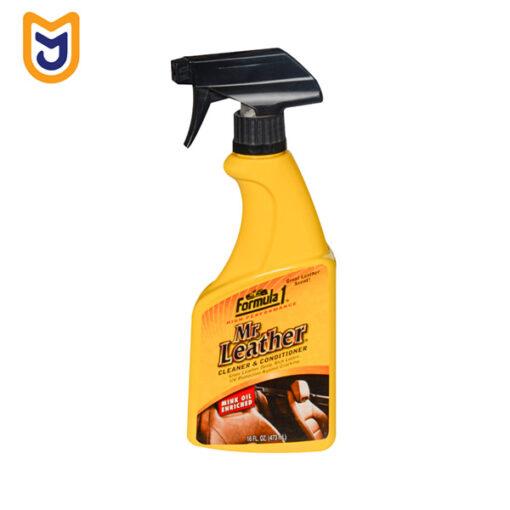 اسپری چرم خودرو (تمیز کننده و نرم کننده) فرمول وان